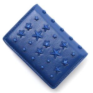 ジミーチュウ JIMMY CHOO 2つ折り財布 小銭入れ付き JAXI ブルー レディース jaxi-nxa|mb-y