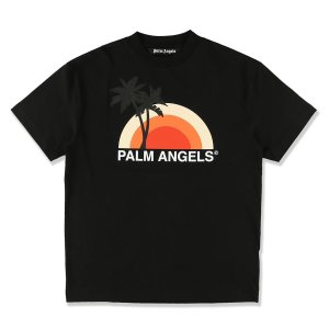 パーム エンジェルス PALM ANGELS クルーネックTシャツ SUNSET TEE ブラック メンズ pmaa001s20413016-1088|mb-y