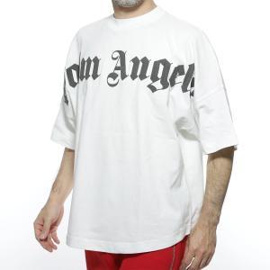 パーム エンジェルス PALM ANGELS クルーネックTシャツ FRONT LOGO OVER TEE ホワイト メンズ pmaa002r20413001-0210|mb-y