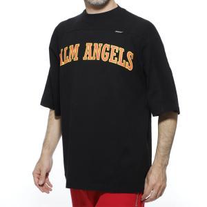 パーム エンジェルス PALM ANGELS クルーネックTシャツ NEW COLLEGE LOGO OVER TEE ブラック メンズ pmaa047r20413027-1088|mb-y