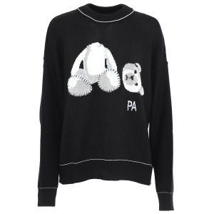 パーム エンジェルス PALM ANGELS クルーネック セーター PALM ICE BEAR SWEATER ブラック メンズ pmhe007e20kni001-1001|mb-y