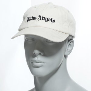 パーム エンジェルス PALM ANGELS キャップ CLASSIC LOGO CAP ホワイト メンズ pmlb009r20224001-0110|mb-y