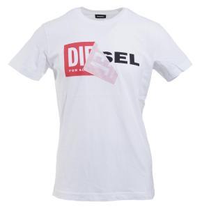 ディーゼル DIESEL クルーネック Tシャツ T-DIEGO ディエゴ ホワイト メンズ t-diego-qa-0091b|mb-y