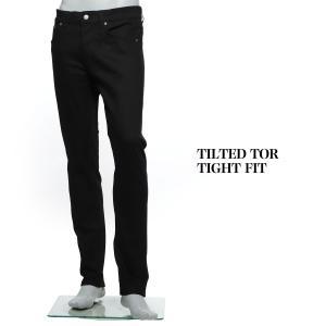 ヌーディージーンズ nudie jeans co ボタンフライ ジーンズ TILTED TOR TIGHT FIT ブラック メンズ tilted-tor-112445|mb-y