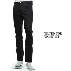 ヌーディージーンズ nudie jeans co ボタンフライ ジーンズ TILTED TOR TIGHT FIT ティルテッド トール タイトフィット ブラック メンズ tilted-tor-112684|mb-y