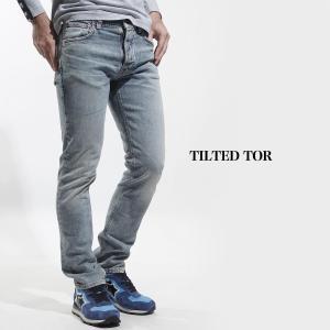ヌーディージーンズ nudie jeans co ストレッチ ジーンズ TILTED TOR ティルテッド トール デニム ブルー メンズ tilted-tor-112780|mb-y