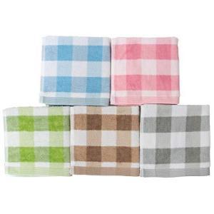 林(Hayashi) ハンドタオル ブルー、ピンク、グリーン、ベージュ、グレー 約34×35cm エ...