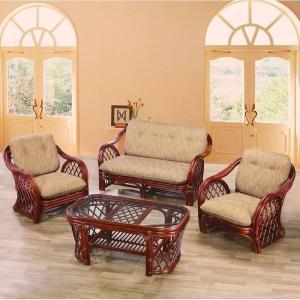 リビングセット家具 応接セット家具 A-58D(S4) 4点セット家具 籐のセット家具 ラタンのセット家具 輸入家具