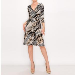 JANETTE ジャネット JANE-40-41 LA ジャージーワンピース 七分袖 2020新作|mcb-apparel