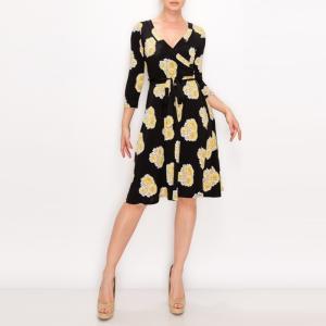 JANETTE ジャネット JANE-42-43 LA ジャージーワンピース 七分袖 2020新作|mcb-apparel