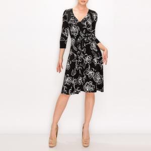 JANETTE ジャネット JANE-46-48 LA ジャージーワンピース 七分袖 2020新作|mcb-apparel