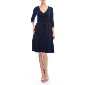 JANETTE ジャネット JANE-51-52-53 LA ジャージーワンピース 無地 七分袖 2020新作|mcb-apparel
