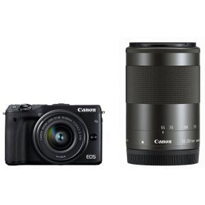 展示品 Canon キヤノン EOS M3 ダブルズームキッ...