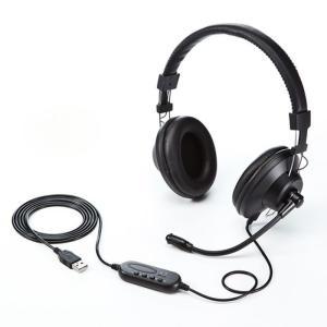 【送料無料】PS4でも使用可能! サンワサプライ製 USBヘッドセット MM-HSU01BK SKY...