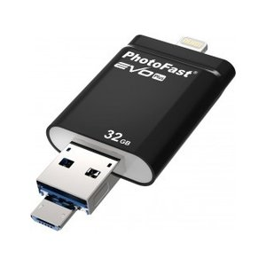 PHOTOFAST  iOS / Android 対応フラッシュドライブ i-Flash Drive EVOPLUS 32GB  IFDEVOPLUS32GB|mcodirect