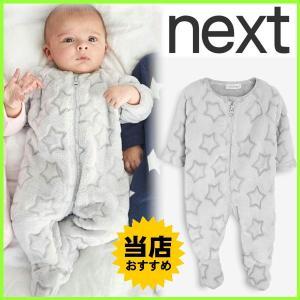 ネクストの中でも人気の暖かいフリースロンパースです。 丈夫な素材で日本にはないめずらしいデザインなの...