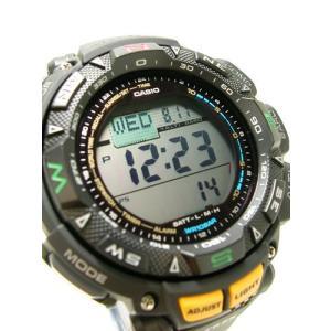 【7年保証】PROTREK メンズ 男性用ソーラー腕時計 トリプルセンサー搭載レジスターリング付2層液晶モデル 【PRG-240-1JF】(国内正規品)|mcoy