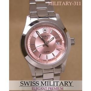 【7年保証】スイスミリタリー腕時計 レディース 女性用  エレガント・プレミアム【MILITARY-311】|mcoy