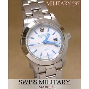 【7年保証】スイスミリタリー腕時計 レディース 女性用  マーブル【MILITARY-297】|mcoy