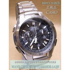 送料無料!カシオ(CASIO) メンズソーラー電波腕時計 WAVE CEPTOR【WVQ-M410DE-1A2JF】 (正規品)|mcoy