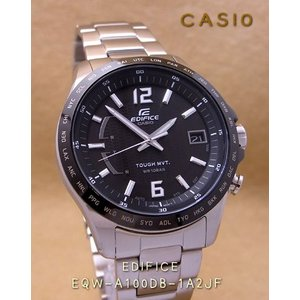 【7年保証】送料無料!カシオ メンズ 男性用ソーラー電波腕時計 EDIFICE!スマートアクセスを搭載した 3針アナログモデル【EQW-A100DB-1A2JF】(国内正規品)|mcoy
