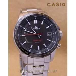 【7年保証】送料無料!カシオ メンズ 男性用ソーラー電波腕時計 EDIFICE!スマートアクセスを搭載した 3針アナログモデル【EQW-A100DB-1A1JF】(国内正規品)|mcoy