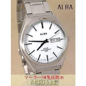 【7年保証】セイコー(SEIKO) アルバ(ALBA) SOLAR(ソーラー)メンズ 男性用腕時計 【AEFD535】(国内正規品)|mcoy