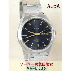 【7年保証】セイコー(SEIKO) アルバ(ALBA) SOLAR(ソーラー)メンズ 男性用腕時計 【AEFD536】(国内正規品)|mcoy