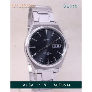 【7年保証】セイコー(SEIKO) アルバ(ALBA) SOLAR(ソーラー)メンズ 男性用腕時計 【AEFD534】(国内正規品)|mcoy