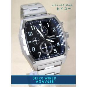 【7年保証】セイコー(SEIKO)メンズ 男性用 ワイアード クロノグラフ腕時計 【AGAV088】(国内正規品)|mcoy