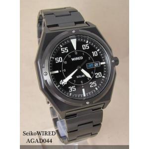 【7年保証】セイコー(SEIKO)メンズ 男性用 ワイアード ソーラー腕時計 【AGAD044】(国内正規品)|mcoy