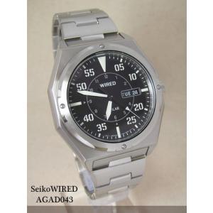 【7年保証】セイコー(SEIKO)メンズ 男性用 ワイアード ソーラー腕時計 【AGAD043】(国内正規品)|mcoy