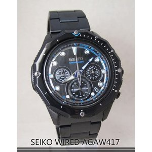 【7年保証】セイコー(SEIKO)メンズ 男性用 ワイアード クロノグラフ腕時計 【AGAW417】(国内正規品)|mcoy