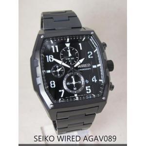 【7年保証】セイコー(SEIKO)メンズ 男性用 ワイアード クロノグラフ腕時計 ブラック【AGAV089】(国内正規品)|mcoy