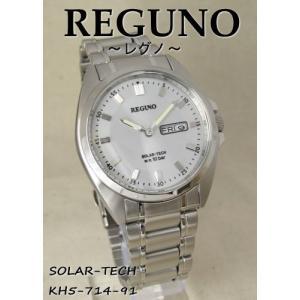 【7年保証】シチズン レグノ メンズ 男性用腕時計  ソーラーテック腕時計 【KH5-714-91】(国内正規品) mcoy