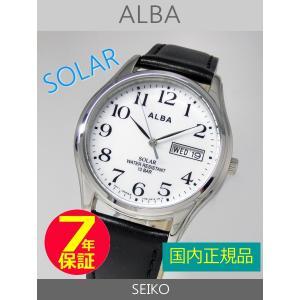 【7年保証】セイコーアルバ メンズ ソーラーウォッチ SEIKO ALBA 男性用 SOLAR 腕時計AEFD543|mcoy