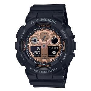 メンズ 腕時計 7年保証 カシオ G-SHOCK GA-100MMC-1AJF 正規品 ブラック×ローズゴールド|mcoy