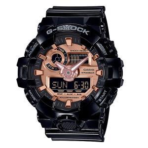 メンズ 腕時計 7年保証 カシオ G-SHOCK GA-700MMC-1AJF 正規品 ブラック×ローズゴールド|mcoy