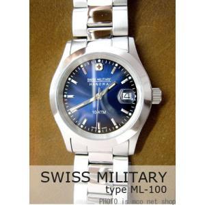 【7年保証】スイスミリタリー エレガント メンズ 男性用 腕時計 【ML-100】 (正規輸入品) SWISS MILITARY ELEGANT|mcoy