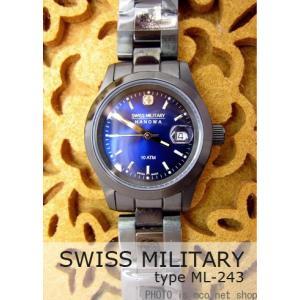 【7年保証】 スイスミリタリー エレガントブラック レディース 女性用  腕時計 【ML-243】 (正規輸入品) SWISS MILITARY ELEGANT BLACK|mcoy