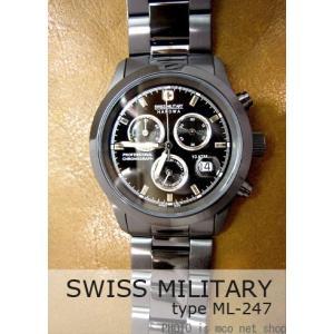 【7年保証】送料無料 スイスミリタリー エレガントクロノ メンズ 男性用 腕時計 【ML-247】 (正規輸入品) SWISS MILITARY ELEGANT CHRONO|mcoy
