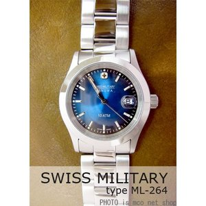 【7年保証】 スイスミリタリー エレガント メンズ 男性用 腕時計 【ML-264】 (正規輸入品) SWISS MILITARY ELEGANT|mcoy