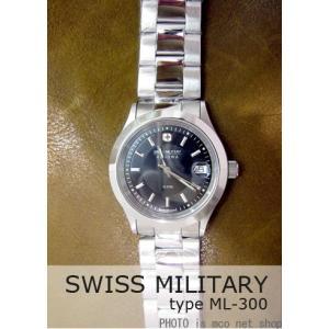 【7年保証】 スイスミリタリー エレガントプレミアム メンズ 男性用 腕時計 【ML-300】 (正規輸入品) SWISS MILITARY ELEGANT PREMIUM|mcoy