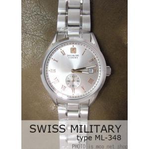 【7年保証】 スイスミリタリー ローマン メンズ 男性用 腕時計 【ML-348】 (正規輸入品) SWISS MILITARY ROMAN|mcoy