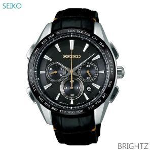 メンズ 腕時計 7年保証 送料無料 セイコー ブライツ ソーラー 電波 SAGA221 正規品 SEIKO BRIGHTZ|mcoy