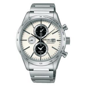 【7年保証】送料無料セイコースピリット スマートSPIRIT SMARTメンズ 男性用ソーラー腕時計クロノグラフ 品番:SBPY113|mcoy