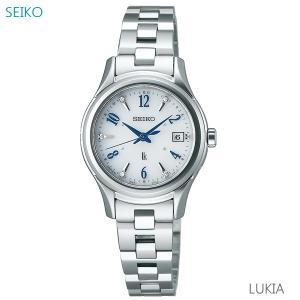 レディース 腕時計 7年保証 送料無料 セイコー ルキア エターナルブルー ソーラー 電波 SSVW107 正規品|mcoy