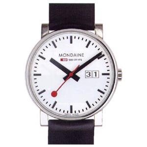 モンディーン 3気圧防水 メンズ アナログ 腕時計 ホワイト 白 ダイアル(A627.30303.11SBB)日付 カレンダー ブラック 黒 本革 レザー 革バンド ドレスウォッチ|mdcgift