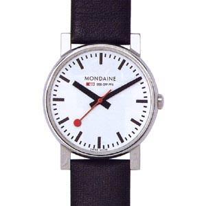 モンディーン 日常生活 3気圧防水 メンズ アナログ 腕時計 ホワイト 白 3針 クォーツ(A658.30300.11SBB)ブラック 黒 本革 レザー 革バンド ドレスウォッチ|mdcgift