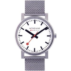 モンディーン メンズ アナログ 腕時計 スタンダード 3針 クォーツ シルバー 銀(A658.30300.11SBV)メッシュ ステンレスバンド スタンダード ドレスウォッチ|mdcgift
